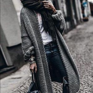 Sweaters - Cashmere Batwing Sleeve Knit Coat Fall/Winter 2019